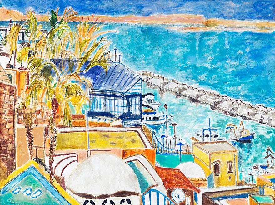 Old Jaffa  2012  Oel auf Leinwand  150 x 200 cm/59 x 79 in