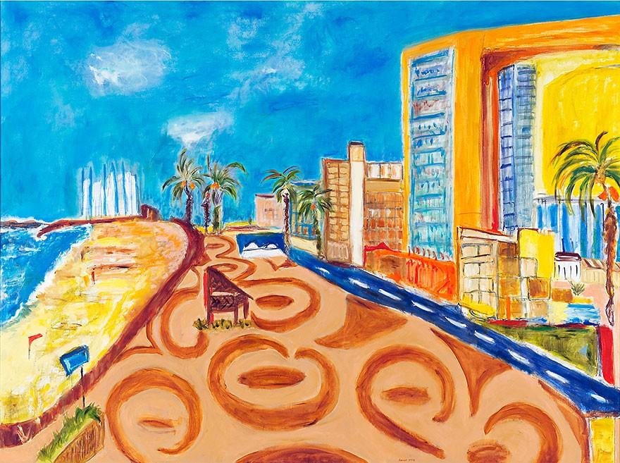 Tel Aviv  2012  Oel auf Leinwand  150 x 200 cm/59 x 79 in