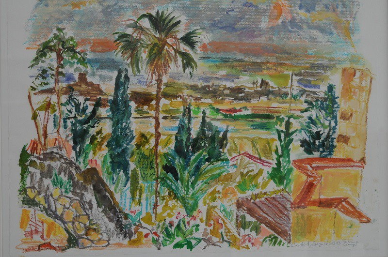 Ein Hod View to the Sea  2013  watercolour on paper  60 x 80 cm/24 x 31 in