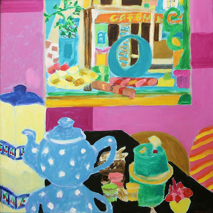 New Teapot from Paris  2008  Oel auf Leinwand  60 x 60 cm/24 x 24 in