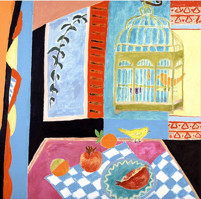 Les canaris | 2002 | 110 x 110 cm