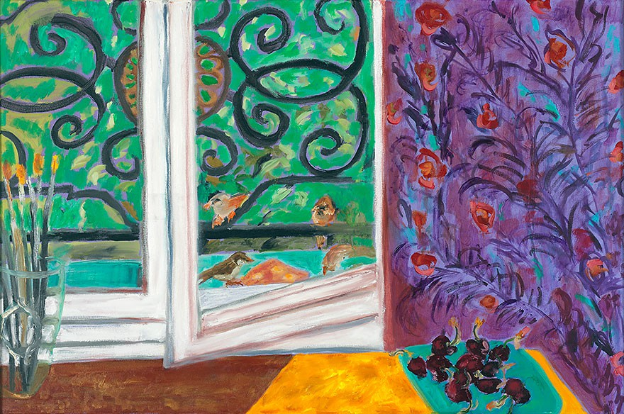 Les Moineaux  2009  oil on canvas  60 x 90 cm/24 x 35 in