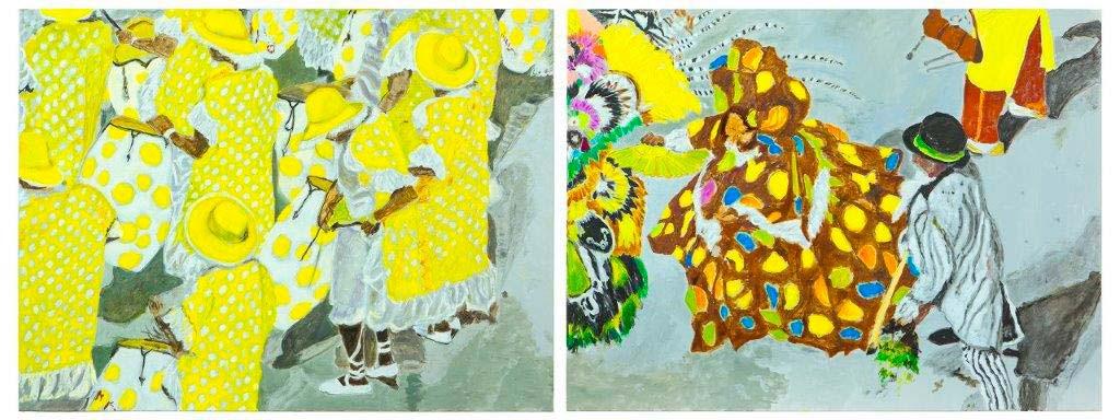 karneval two parts | 2017 | 120 x 320cm