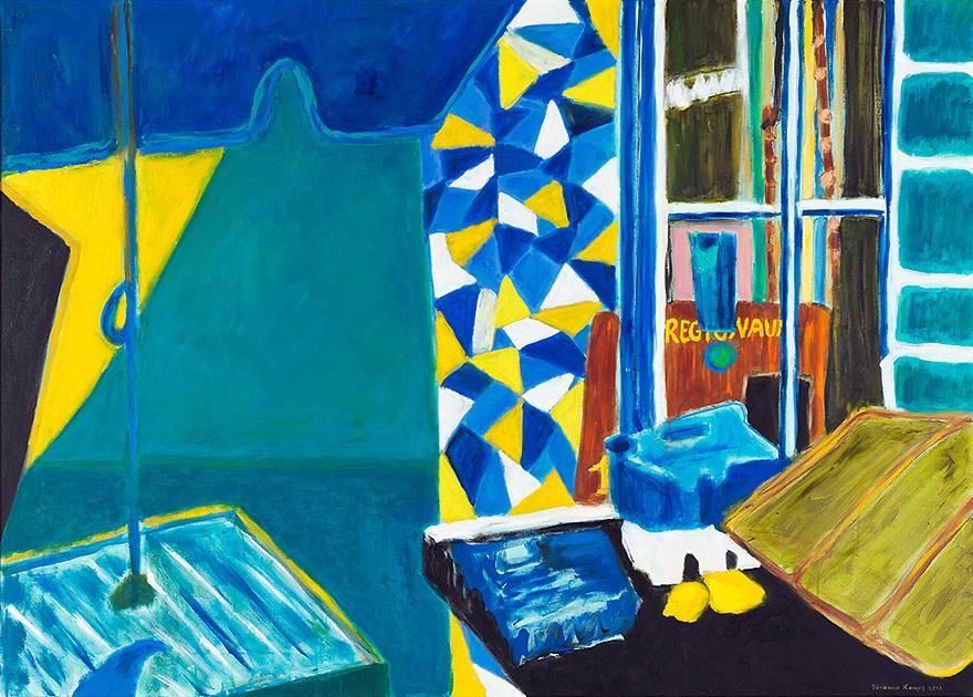 Mosaic  2012  Oel auf Leinwand  100 x 140 cm/39 x 55 in