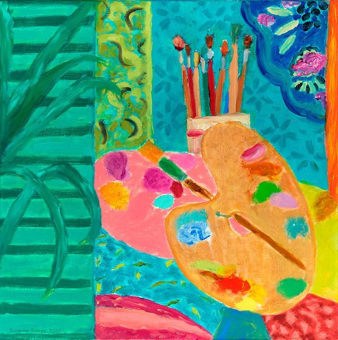 Palette IV  2005  Oel auf Leinwand  60 x 60 cm/24 x 24 in