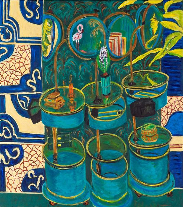 Mirrorsalon  2012  Oel auf Leinwand  180 x 160 cm/71 x 63 in