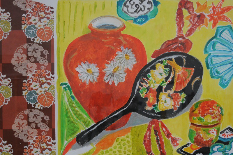 Rouge et Noir  2017  Aquarell auf Papier  70 x 100 cm/28 x 39 in
