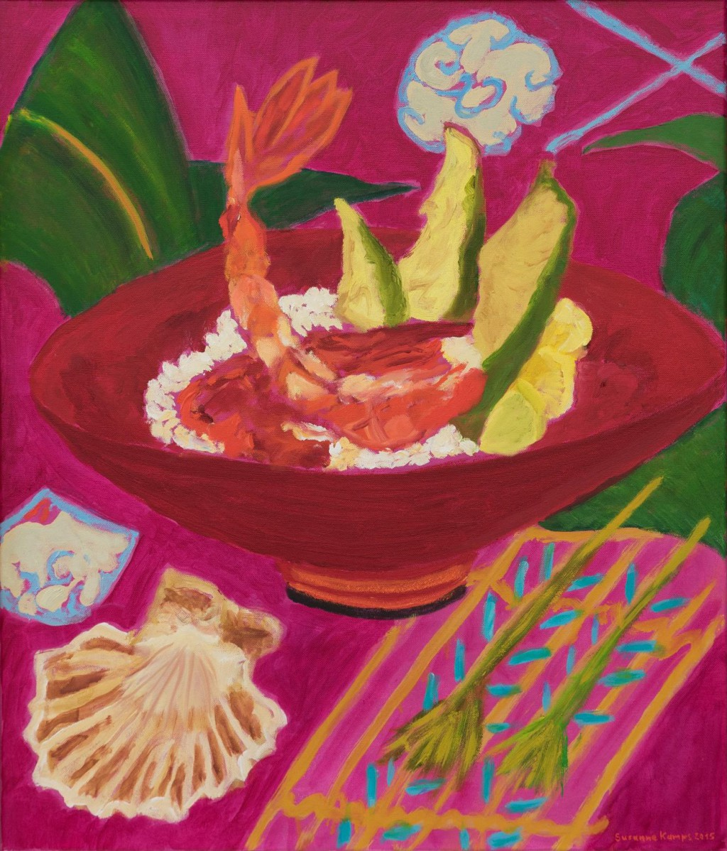 Scampi  2015  oil on canvas  70 x 60 cm/28 x 24 in