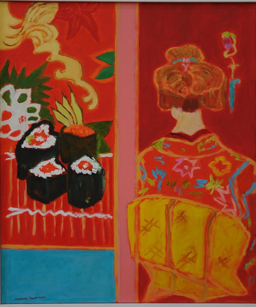 Sushi Geisha  2015  oil on canvas  70 x 60 cm/28 x 24 in