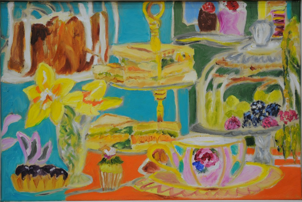 Vintage Tea Party  2017  oil on canvas  40 x 60 cm/16 x 24 in