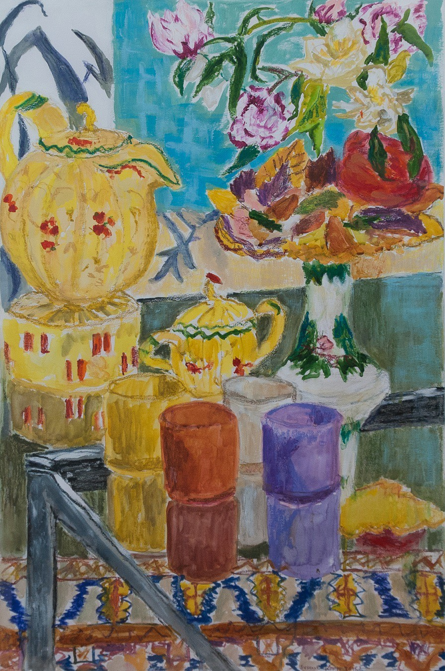 Tea Time  2015  mixed media on paper  100 x 70 cm/40 x 28 in