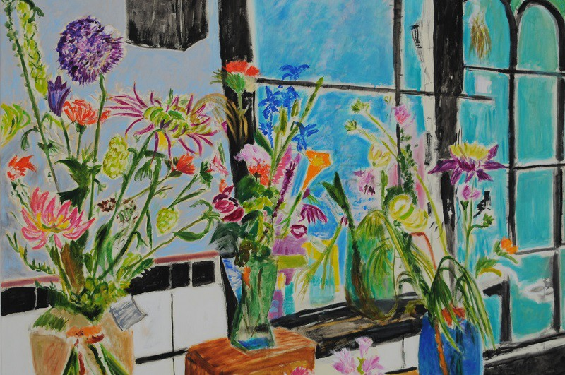 Flower Shop  2017  Oel auf Leinwand  120 x 160 cm/47 x 63 in