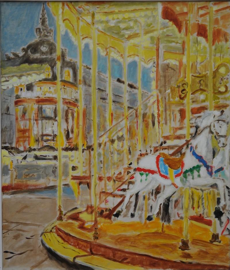 Caroussel  2019  Oel auf Leinwand  70 x 60 cm/28 x 24 in
