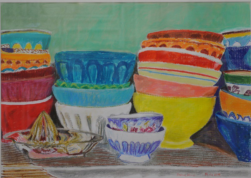 Des Grands Tasses  2019  Aquarell auf Papier  50 x 70 cm/20 x 28 in